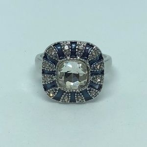 Jewelry - White/Blue Sapphire 925 Silver Filled Ring SZ 10